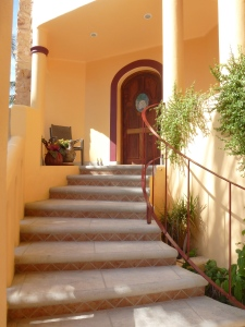 Entry way to main house.